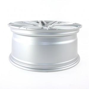 Twin-Monotube Silber gebürstet